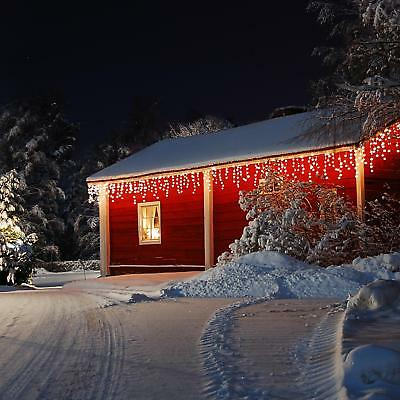 Decorazione Natalizia Led Illuminazione Natale Luci 16M 320 Led  Snow Motion