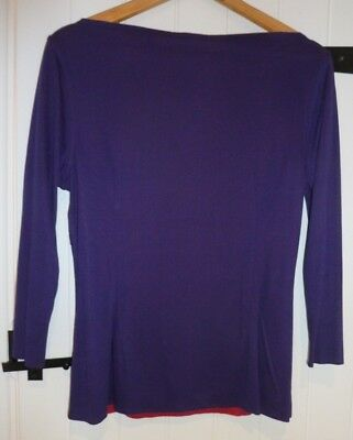 Bnwt Vanessa Knox @ Isabella Oliver Maternity Reversible Top Size 14 Rrp £135