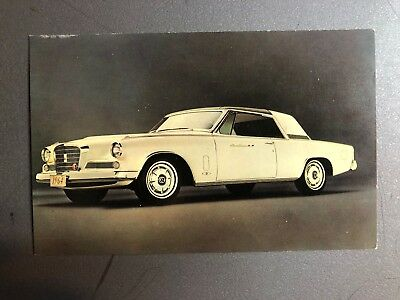 1964 Studebaker Gran Turismo Hawk Coupe Postcard Post Card RARE!! Awesome L@@K