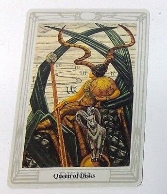 Queen of Disks single tarot card Crowley Large Thoth Tarot 1996 AGM Agmuller