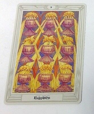 Happiness 9 Cups single tarot card Crowley Large Thoth Tarot 1996 AGM Agmuller