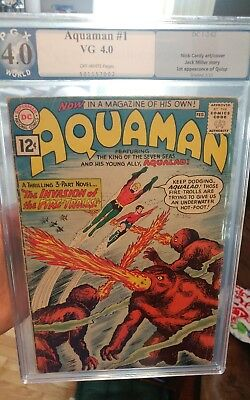 Aquaman #1 PGX 4.0 OW KEY (LIKE CGC) ~ *1st Appearance of Quisp* ~ TAKING OFFERS
