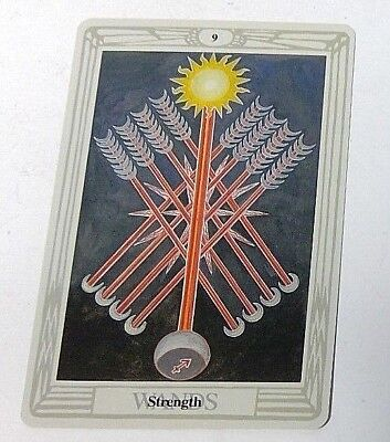 Strength 9 Wands single tarot card Crowley Large Thoth Tarot 1996 AGM Agmuller