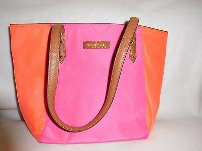 Vera Bradley  Preppy Poly Ella Tote - Evening Rose and Orange