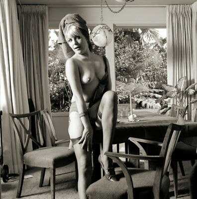 Vintage PINUP Negative & Photo 1960s SEXY BLONDE Nylons (Nudes)