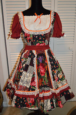 Square Dance Skirt and Blouse Size S/M