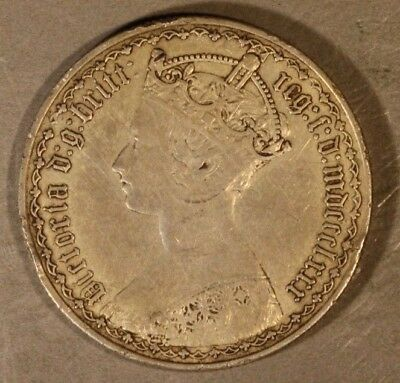 1880 Great Britain Gothic Florin Circulated        ** Free U.S. Shipping **