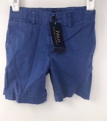 Ralph Lauren Toddler Straight Fit Chino Shorts Blue Size 4T