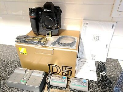 Nikon D5 Digital SLR Pro Camera Body XQD Version - 69k Shutter + 2nd Batt + 64GB