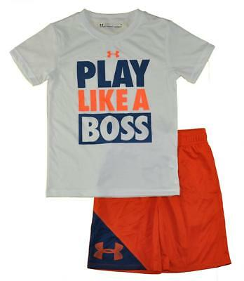 Under Armour Boys White Play Like A Boss Top 2pc Short Set Size 5