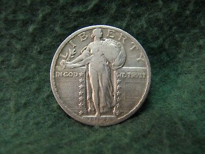 1924 D  Standing Liberty Quarter Date is Clear  90% Silver 25 Cent Coin KEY DATE