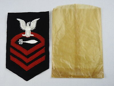 WWII Navy Chief Petty Officer's Torpedoman's Rate Patch W/Orig Issue Envelope
