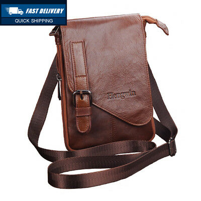 Hengying Leather Man Bags Small Cross Body Messenger Belt Bag Waist Pouch. be2fe09be8