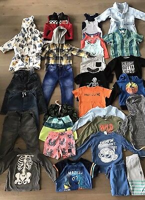 Boys Size 1-3 Clothes Bundle COUNTRY ROAD, HURLEY, CONVERSE BONDS 30 ITEMS!!