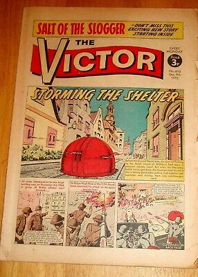 7/9Th Royal Scots Ww2 Cover Story In Victor Comic #616 1972