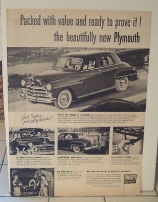 1950 PLYMOUTH  ad advertisement