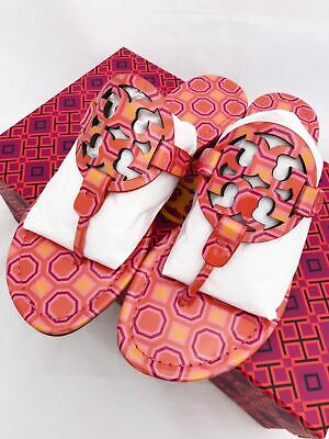 b8991e4b6 TORY BURCH MILLER Sandals Flip Flop Orange Coral Pink 7 7.5 8 8.5 10 ...