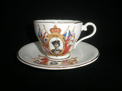 Aynsley Vintage Queen Elizabeth II Coronation China Cup & Saucer June 1953