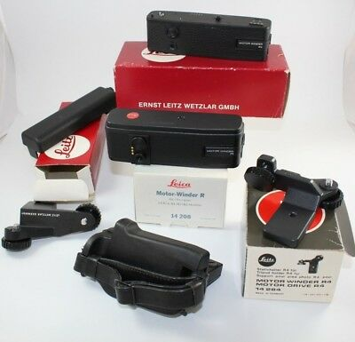 """Leitz/Leica R Motor Winder/Drive Accessory Lot: Mixture of NOS and """"Gently Used"""""""