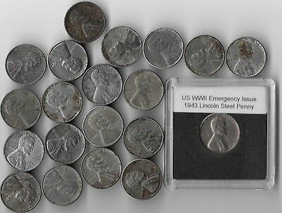 Rare Very Old WWII US Collection Lincoln USA WW2 Wartime 20 Coin Collectible War