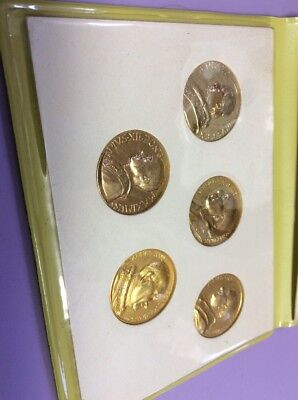 Vatican City Of Popes Gold Metal Coin Set Italy