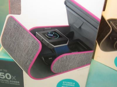 myCharge PowerGearSport Wearables Charging Case Pink/Grey