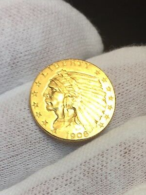 1908 $2.50 Gold Indian Head