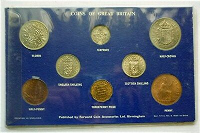 1962-1965 Great Britain / United Kingdom -Complete Unc Pre-Decimal L.s.d Set (8)