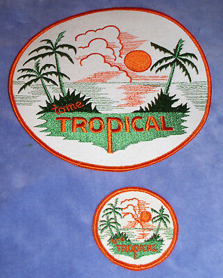 Vintage 1960's Tropical Soda Embroidered Patches