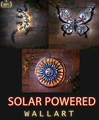 40cm Solar Bright Led Light Metal Sun Garden Ornaments Decoration Wall Art Buy One Give One Home & Garden