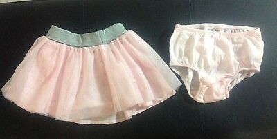 baby Gap tulle flippy skirt for toddler girl size 12-18 months color pink