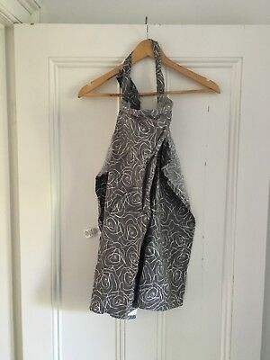 Bebe Au Lait Ladies Breast Feeding Cover Grey And White RRP New $49.99