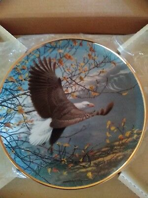 """Vintage Collector plate """"AUTUMN IN THE MOUNTAIN """" SEASONS OF THE BALD EAGLE"""