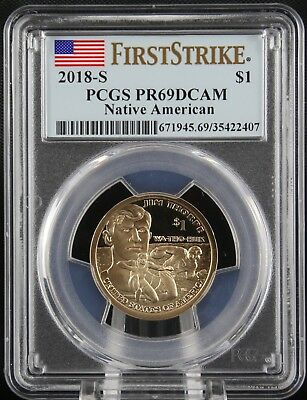 2018 S Sacagawea Proof Native American Dollar PCGS PR 69 First Strike