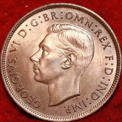 Uncirculated 1937 Great Britain Penny Foreign Coin