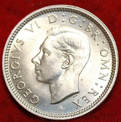 Uncirculated 1938 Great Britain 6 Pence Foreign Coin