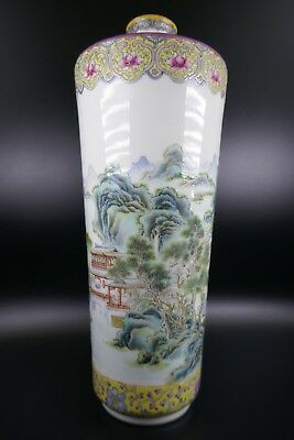 Super Fine Old Chinese 19th/20th Republic Period Porcelain Famille Rose Vase