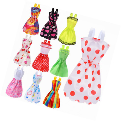 66 Pcs Barbie Doll Clothes Accessories Huge Lot Party Gown Outfits Girl Gift New