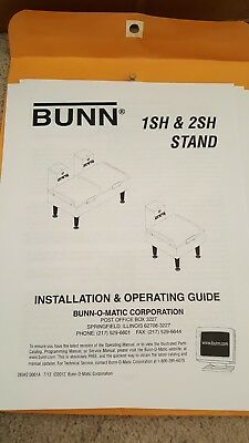Bunn 1SH Stand 120V SST Heat Stand SST SNIC 185972 27825.0017 NEW