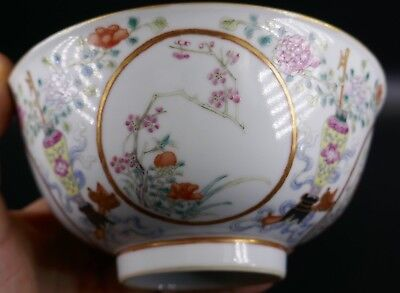 Fine Old Chinese 19th/20th Republic Period Porcelain Bowl Famille Rose #4