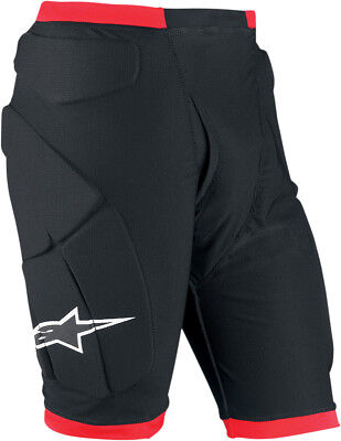 Alpinestars Compression Protection Shorts Black/Red Mens All Sizes