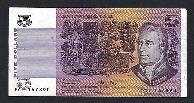 Australia 1983 Johnston/Stone $5 Offset Wet Ink Transfer Banknote R208