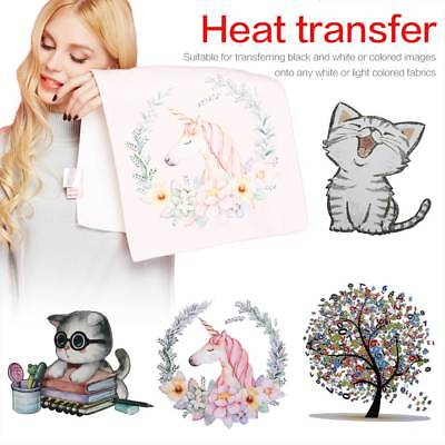 Heat Transfer Stickers Iron On Patches Washable DIY T-shirt Patch Printing Decor