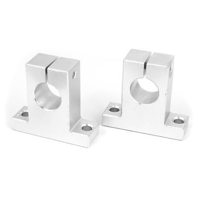 SK16 16mm Hole Dia CNC Linear Rail Axis Vertical Shaft Support 2pcs