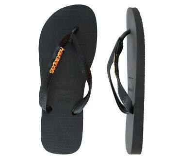 Havaianas Metal Logo Thongs - Black