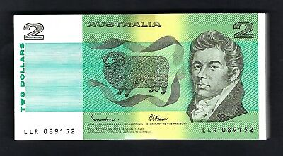 100x Australia 1985 Johnston/Fraser $2 Consecutive Uncirculated Banknotes R89