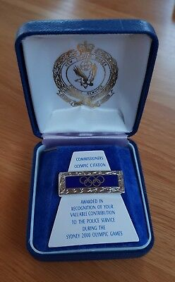 Old and Obsolete NSW Police Olympic Citation