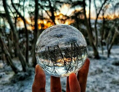 70mm Clear Crystal Acrylic lens Ball photograph Contact Juggling Juggle lensball