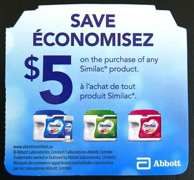 8 x $5 off on Similac Baby Formula Coupons Canada