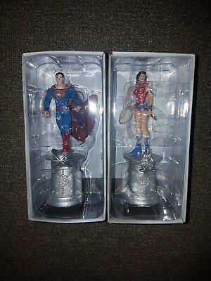 DC Comics Superman & Wonder Woman Eaglemoss Collectibles Chess Pieces New
